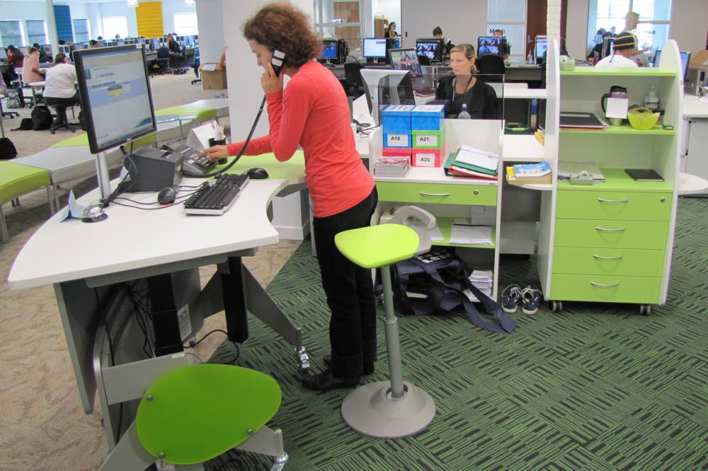 Sit to Stand GLO 1600 station at Bay of Plenty Polytechnic Library.