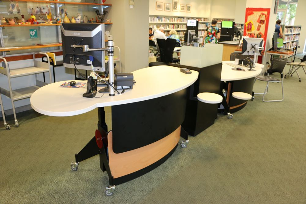 GLO 2000 Single Oval Circulation counter for libraries