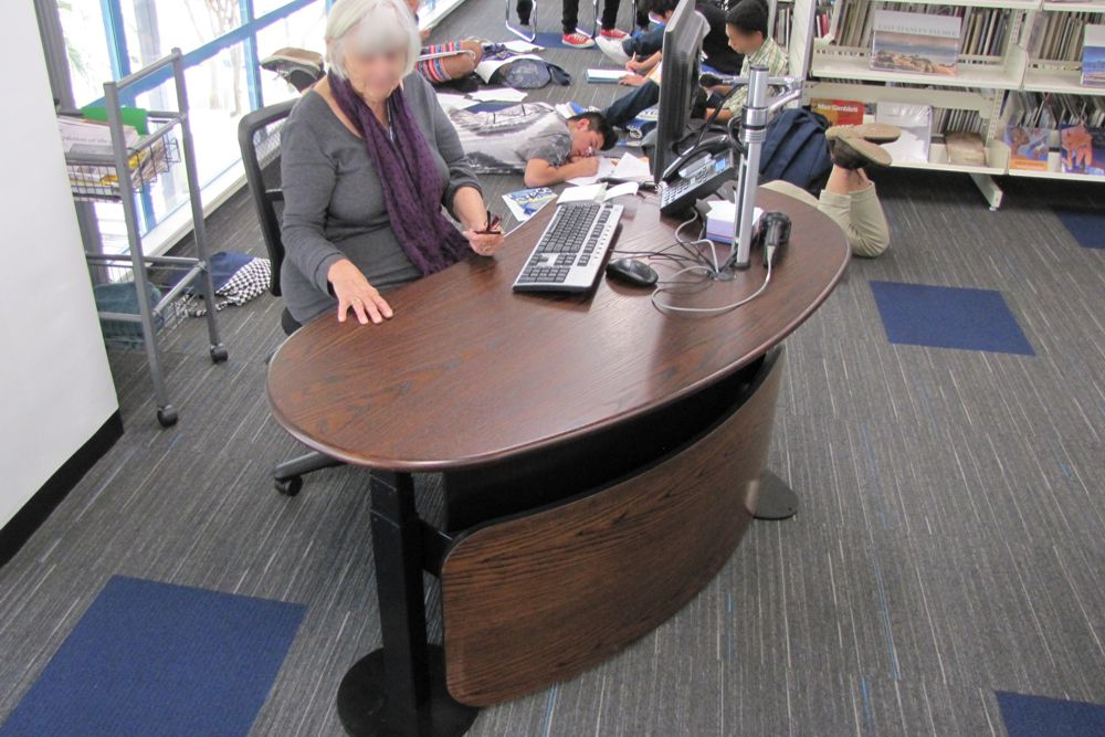 BEAN crafted in oak veneer, at a busy Auckland Council library.