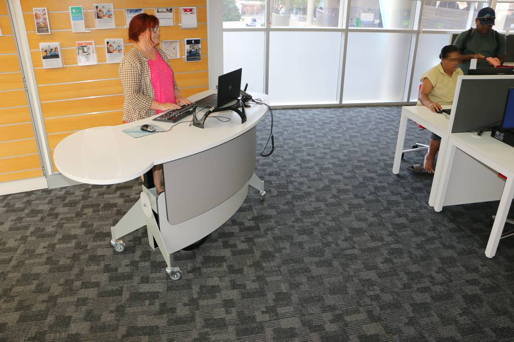 GLO 2000 Single Oval in the standing position, at Cumberland City Council's Auburn library.