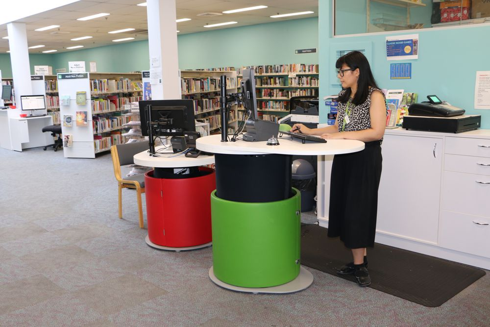 YAKETY YAK 1200's stand out in bold colours at St Ives Library.