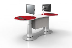 YAKETY YAK 2400 Service Island with multiple service points offers information portals to staff and customers alike.