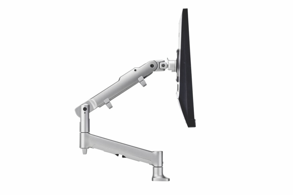 ATDEC Premium Articulated Monitor Arm in silver.