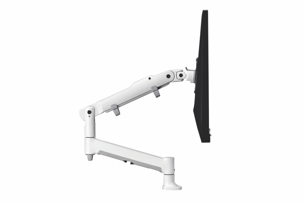 ATDEC Premium Articulated Monitor Arm in white.