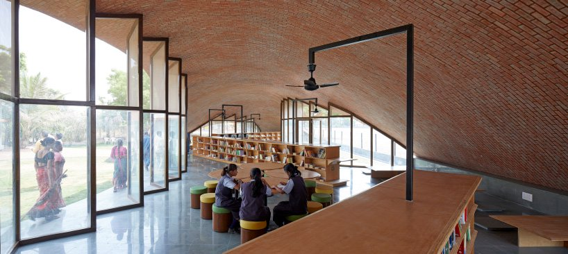 A Brick Vaulted Library For A School In India Instinct