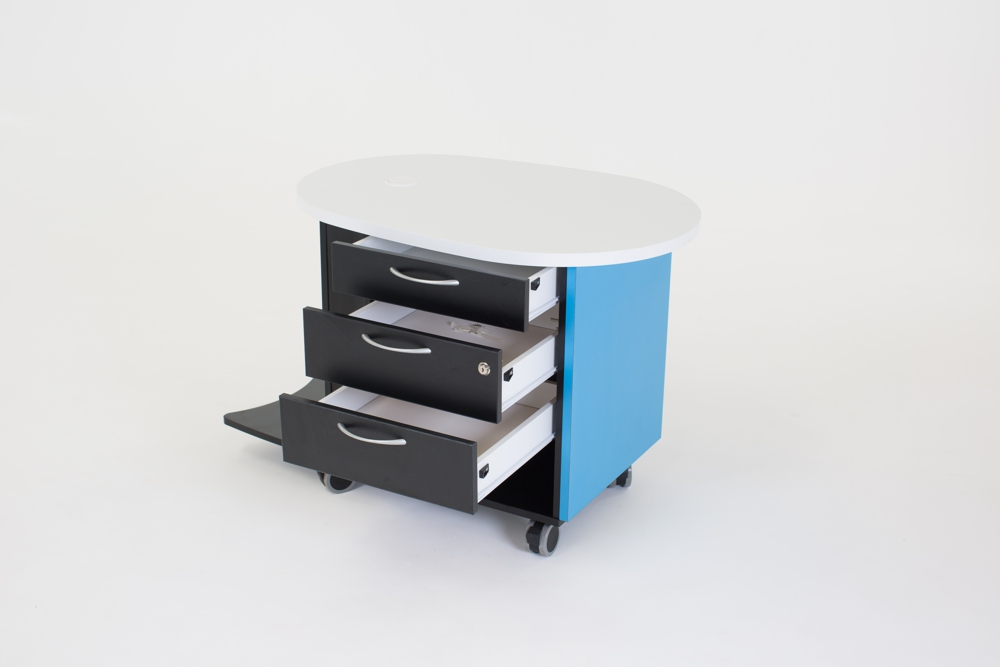YAKETY YAK Nova Support Caddy provides three drawer storage.