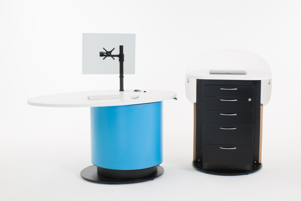 YAKETY YAK Nova Work Module provides extra storage and a private workspace for staff.