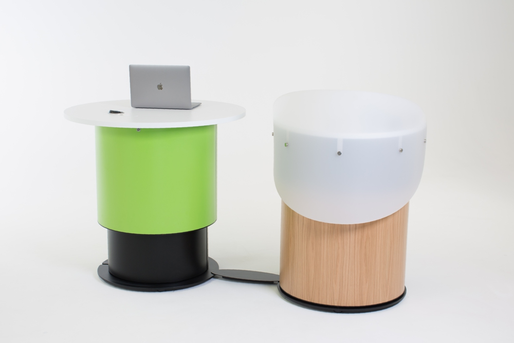 Use ARMADILLO Cable Covers to create a tidy aesthetic for your YAKETY YAK desk grouping.