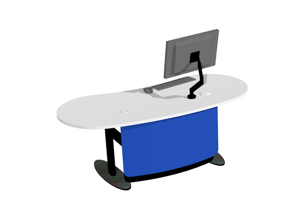 BEAN 1800 Island Desk in the seated position.